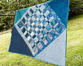 Blue geometry, quilt, - convergence-