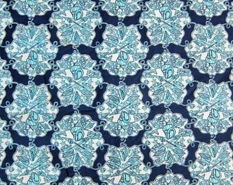 Lilly Pulitzer Fabric Hey Sailor Blue Cotton Poplin