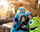 Grown Up Size Custom Made Green Mike Wazowski One Eyed Monster Halloween Costume
