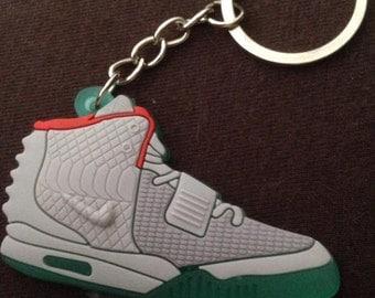 Nike Air Yeezy Grey Keychain