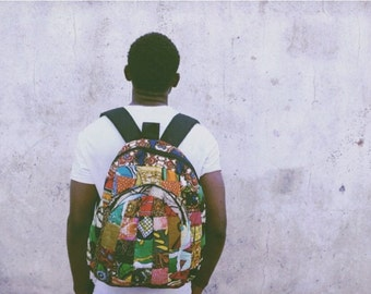 CHITENGE PRINT BACKPACK