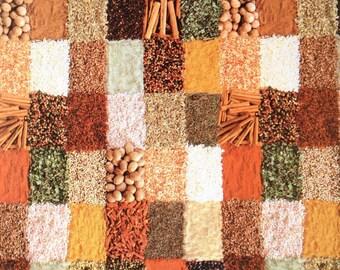 Oilcloth tablecloths fabric spices V380