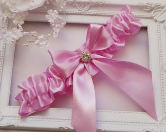Wedding Garter Bridal Garter Pink Garter Rhinestone Garters Bridal Garters Pink Wedding Garter Keepsake Garter  Garters Bridal Gift Wedding