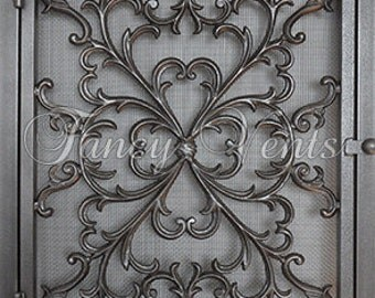 Decorative Cast Iron Vent Cover - 24 x 30 Rococo