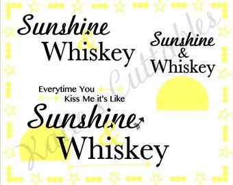 Sunshine & Whiskey .SVG File