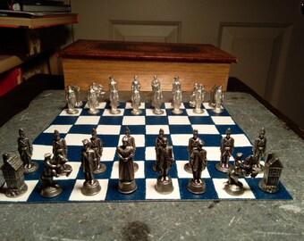 Battle of Culloden Pewter Chess Set