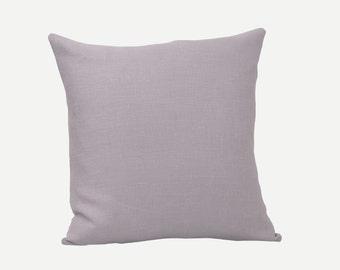 """Light Grey Natural Linen Pillow Cover, 18"""" x 18"""""""