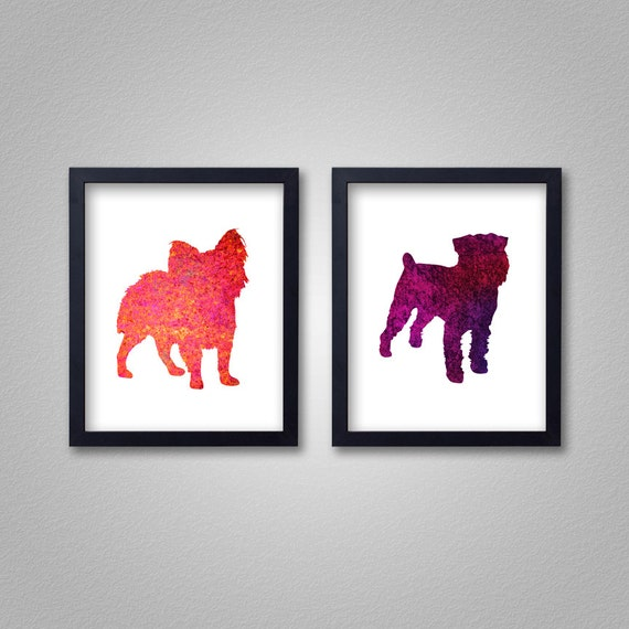 Any 2 5x7 Prints - Proceeds to Shelters - Dog Wall Art - Abstract Digital Animal Painting