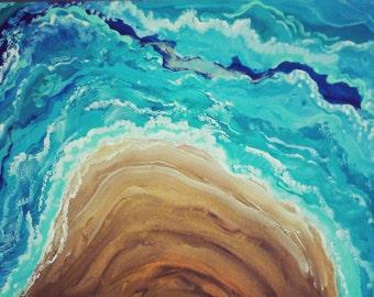 "FREE surprise frame! ""Waves"" ORIGINAL painting"