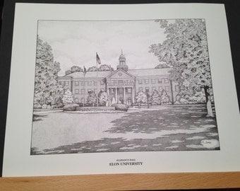 Elon University/College 11x14 print