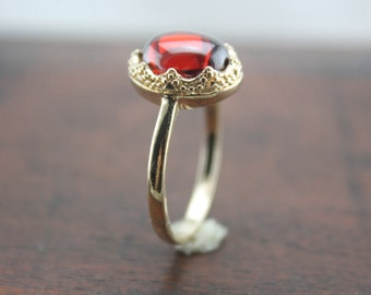 oval Ruby ring in gold Christmas gifts