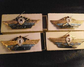 Signs officer army class of USSR. Price per set.