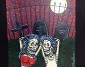 Love in the grave yard