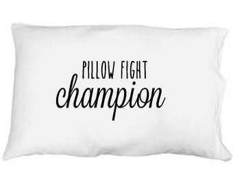 Pillow Fight Champion White Microfiber Pillowcase