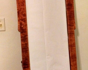Mission Style, Arts and Crafts Style Dressing Mirror In Tiger (Curly) Maple