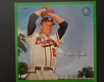 Warren Spahn Original 1964 Auravision 33 RPM Baseball Record