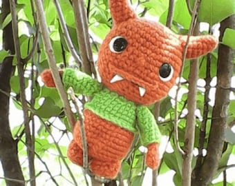 Kids Toys: Pushie - Gilbert the Yarny Monster - Soft Toys - Plush Toy - Plush Animals - Monster