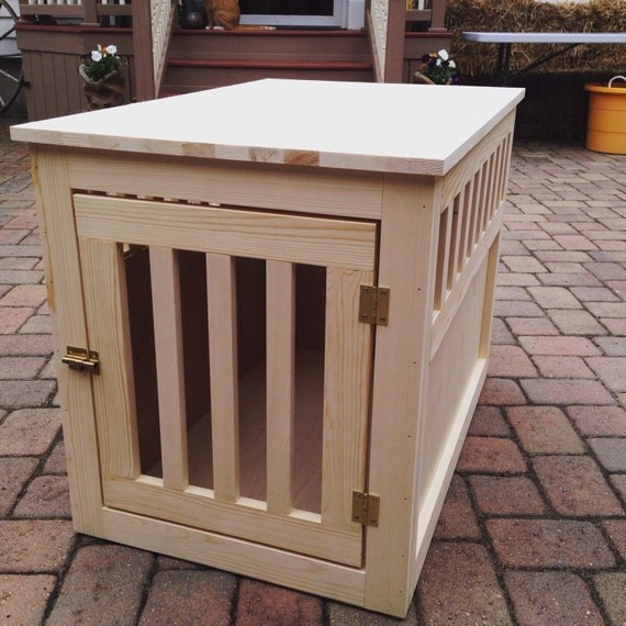 Items similar to Custom Dog Crate End Table on Etsy