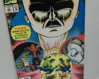 1993 What If #53 Spider-Man , Iron Man, Hulk 3 Tales of Alternate Realities VF-NM  Unread Vintage Marvel Comic Book
