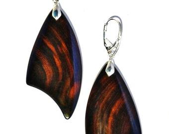 Rare Exotic Iron wood Earrings