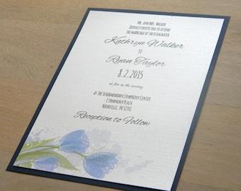 Watercolor Flowers Wedding Invitation SAMPLE SET