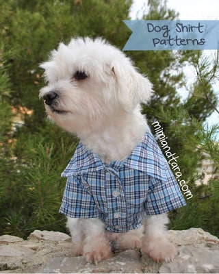 Dog Shirt Pattern size S Sewing Pattern Dog Clothes Pattern