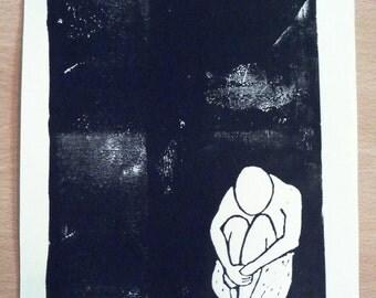 original linocut print