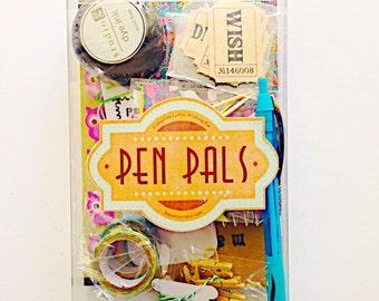 Pen Pals Letter Writing Kit: snail mail kit, snailmail kit, letter writing set, paper craft, pen pals, penpal ideas,stationery, mail, penpal