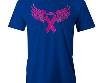 Breast Cancer Ribbon With Wings T-Shirt Funny