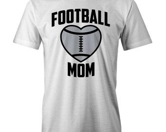 Football Mom Heart T-Shirt Funny Mum Mothers Day Mummy