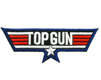 Top Gun Embroidered Applique Iron on Patch