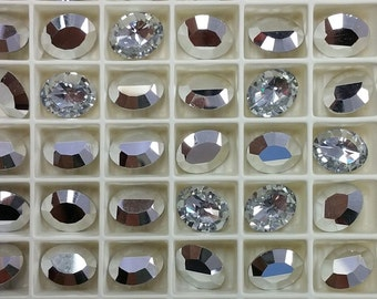 RARE Article 4106 Oval 10x8 Swarovski Crystal Silver (4)