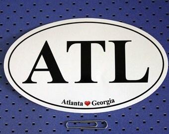 Atlanta, Georgia (ATL) Oval Bumper Sticker
