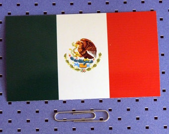 Mexico Flag Bumper Sticker
