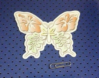 Colored Butterfly Bumper Sticker