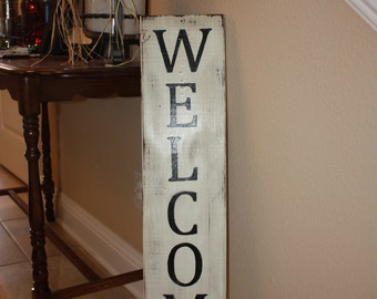Rustic Welcome sign- Large