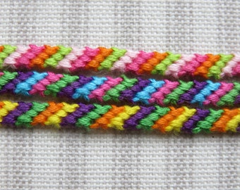 Friendship Bracelet - 4 string - String Bracelet - Multi-Colored