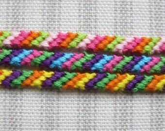 Friendship Bracelet - 4 string - String Bracelet - Multi-Colored