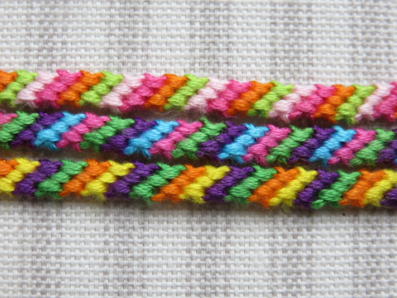 friendship bracelet 4 string string bracelet