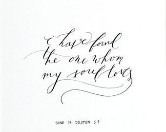I have found- Original Calligraphy