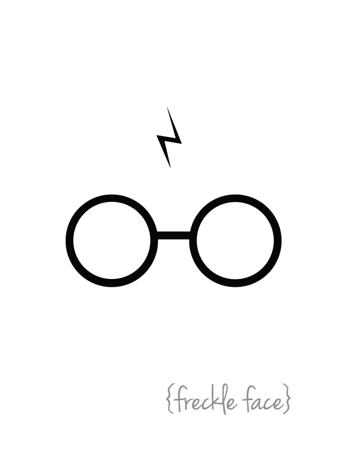 Remarkable image intended for harry potter glasses printable