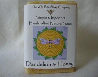 Dandelion & Honey Soap, Soap, Natural Soap, Dandelion Soap, Gentle Soap, Handcrafted Soap, Bar Soap, Bath Soap, Cold Process Soap, Easter