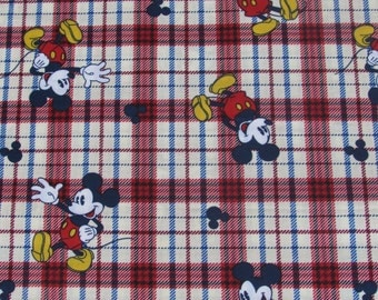 Disney Mickey Mouse Plaid Fabric