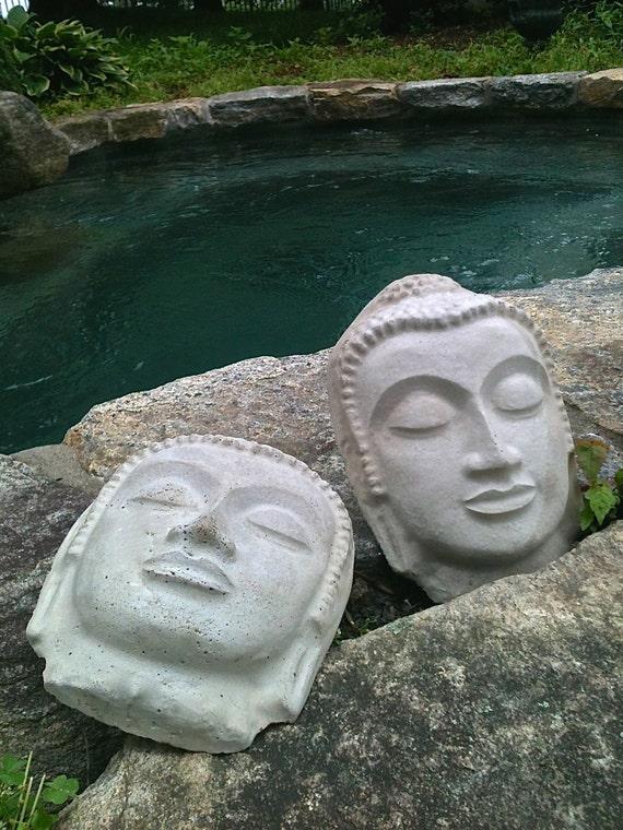 Concrete Buddha Head Gold Painted Buddha By