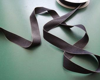 Grosgrain ribbon | Gros Grain | Viscose/Polyamide | 24 mm | 15/16'' | blue/nature