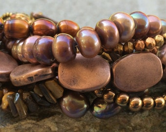 Copper Penny & Brown Sugar Bracelet