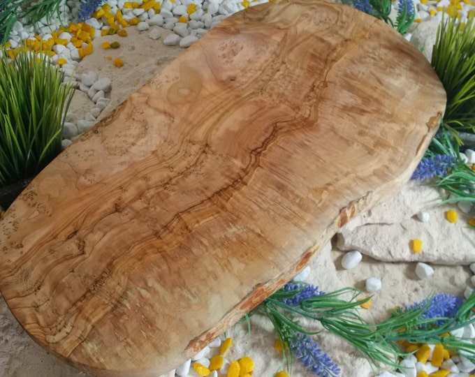 Cutting board olive wood natural cut approx 35 cm natural wood solid unique