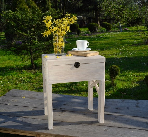 Items Similar To White Wooden Coffee Table Trunk On Etsy