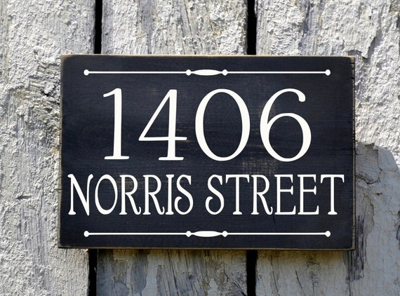 address plaque custom house numbers sign street by. Black Bedroom Furniture Sets. Home Design Ideas