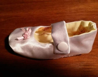White Satin Mary Jane Toddler Christening/Party Shoes Size 9-12 mths